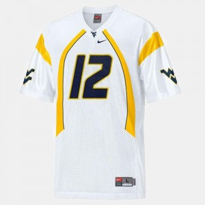 #12 White Football West Virginia Mountaineers Youth Geno Smith College Jersey
