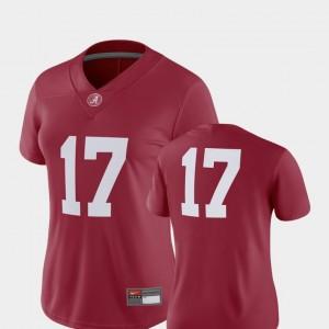 Football Alabama Women #17 2018 Game College Jersey Crimson