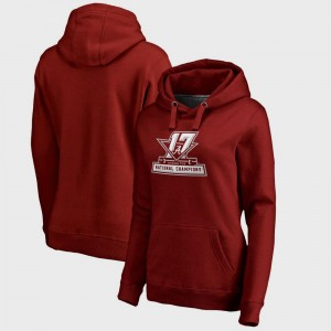 College Hoodie Bama Bowl Game Ladies Football Playoff 2017 National Champions Official Crimson