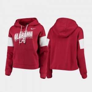 College Hoodie Ladies Alabama Crimson Local Pullover