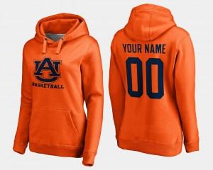 Orange AU College Customized Hoodies #00 Basketball - Womens