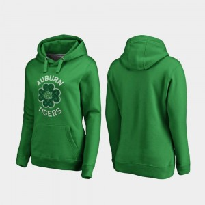 For Women Luck Tradition Kelly Green College Hoodie St. Patrick's Day Auburn Tigers