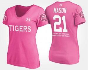 Pink Ladies Tre Mason College T-Shirt #21 Auburn With Message