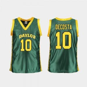 Baylor Bears For Women Green Basketball Aquira DeCosta College Jersey Replica #10