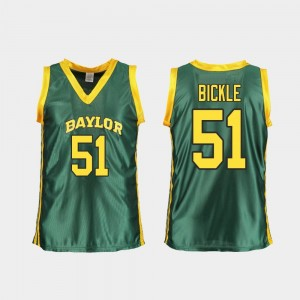 Basketball For Women Green #51 Baylor University Caitlyn Bickle College Jersey Replica