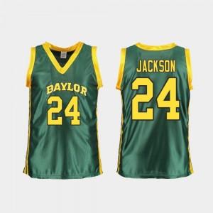For Women Replica Baylor University Basketball Chloe Jackson College Jersey #24 Green