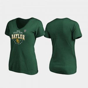 Tackle V-Neck Bears 2020 Sugar Bowl Bound Green College T-Shirt For Women's