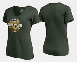 Basketball Conference Tournament Green BU College T-Shirt Women V-Neck 2018 Big 12 Champions