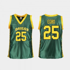 Basketball Queen Egbo College Jersey #25 Green For Women's Replica Baylor University