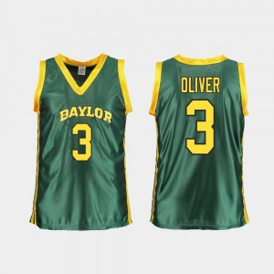 #3 Basketball Replica Baylor Bears Trinity Oliver College Jersey Womens Green