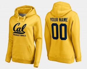 Basketball - Cal Berkeley For Women's College Custom Hoodies #00 Gold