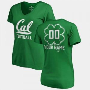 #00 V-Neck Dubliner Fanatics Kelly Green St. Patrick's Day California Golden Bears For Women's College Customized T-Shirts