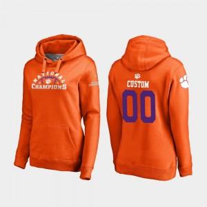2018 National Champions For Women Football Playoff Pylon Clemson Tigers Orange College Customized Hoodies #00