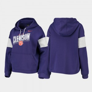 Clemson Tigers Pullover College Hoodie Purple For Women's Local