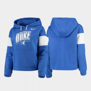 For Women's College Hoodie Blue Devils Royal Pullover Local