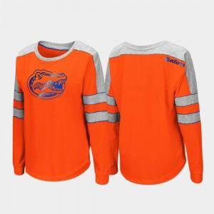 Florida Women Orange College T-Shirt Trey Dolman Long Sleeve
