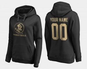 For Women College Customized Hoodie Black FSU #00 Basketball -