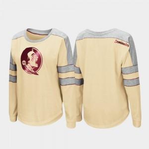 College T-Shirt Gold Women's Trey Dolman Long Sleeve Seminole