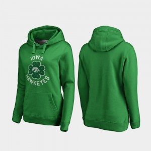 Luck Tradition College Hoodie Kelly Green St. Patrick's Day University of Iowa Ladies