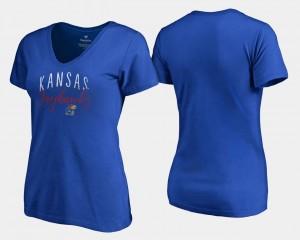 Royal Womens College T-Shirt Kansas V-Neck Graceful