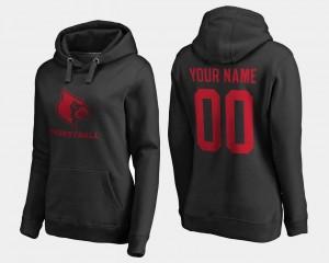#00 Women's College Customized Hoodies Louisville Cardinal Black Basketball -
