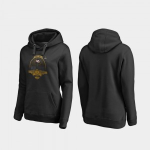 Louisiana State Tigers Black Football Playoff French Quarter Women College Hoodie 2020 National Championship Bound