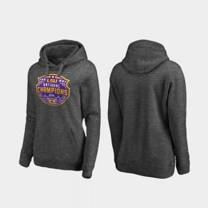 Heather Gray LSU For Women's 2019 National Champions Football Playoff Encroachment College Hoodie