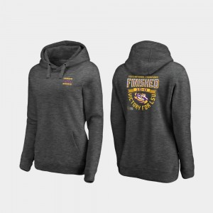 2019 National Champions College Hoodie Heather Gray Louisiana State Tigers For Women's Football Playoff Quarter