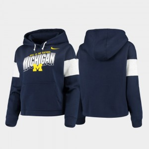 Navy College Hoodie Ladies Michigan Pullover Local