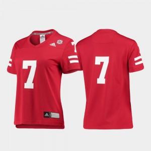 For Women's Football Scarlet Replica University of Nebraska #7 College Jersey