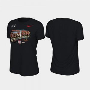 Illustration College T-Shirt Ohio State Buckeyes 2019 Fiesta Bowl Bound Women Black