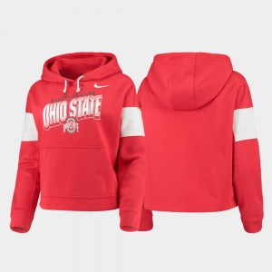 For Women's Pullover OSU Buckeyes College Hoodie Local Scarlet