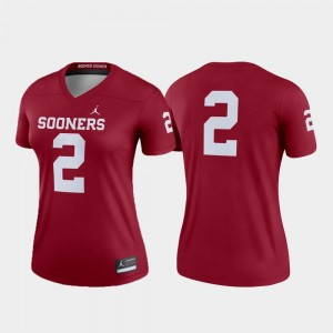 Oklahoma Sooners Legend Crimson College Jersey #2 Football Women