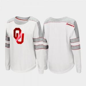College T-Shirt Women's White Oklahoma Trey Dolman Long Sleeve