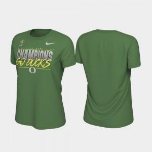 Apple Green 2020 Rose Bowl Champions Ducks For Women Locker Room College T-Shirt