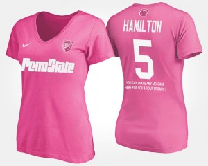 DaeSean Hamilton College T-Shirt Pink Penn State With Message Womens #5