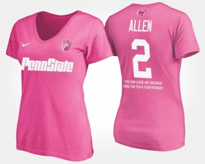 Marcus Allen College T-Shirt Ladies With Message #2 Penn State Pink