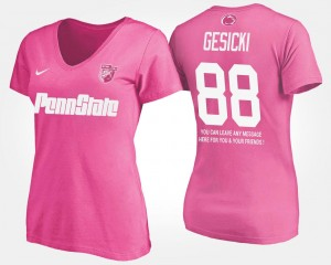 With Message Pink #88 Women PSU Mike Gesicki College T-Shirt