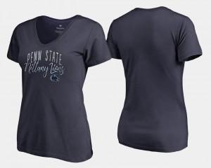 Penn State For Women College T-Shirt Graceful V-Neck Navy