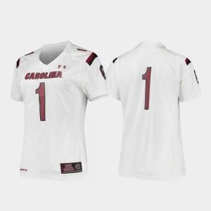 For Women's Football Gamecocks Replica White #1 College Jersey