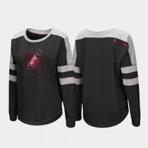 Gamecock Long Sleeve Black For Women's Trey Dolman College T-Shirt