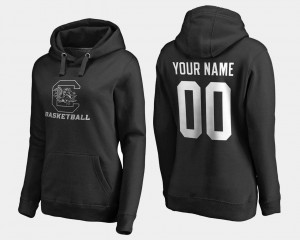 Basketball - Black For Women's South Carolina #00 College Customized Hoodie