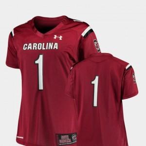 Football South Carolina Gamecocks For Women's College Jersey #1 Finished Replica Garnet