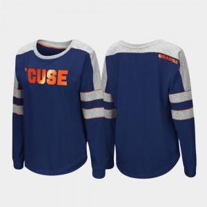 Trey Dolman Women's Long Sleeve College T-Shirt Navy Syracuse University