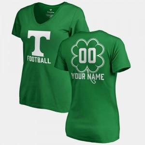 Kelly Green V-Neck Dubliner Fanatics College Customized T-Shirts St. Patrick's Day For Women #00 UT Volunteer