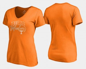 Graceful Womens University Of Tennessee V-Neck College T-Shirt Tennessee Orange