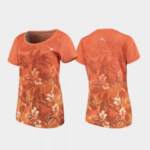 Texas Orange Women College T-Shirt University of Texas Floral Victory Tommy Bahama