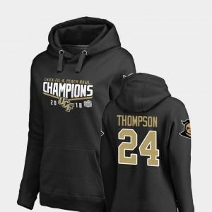 2018 Peach Bowl Champions #24 Bentavious Thompson College Hoodie For Women Goal UCF Knights Black