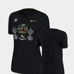 2019 Fiesta Bowl Bound Verbiage College T-Shirt UCF Knights Women's Black