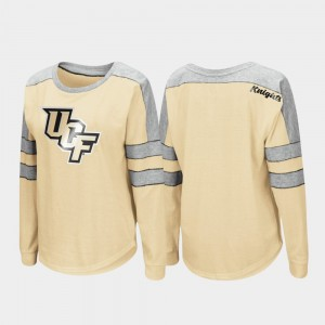 Gold UCF Long Sleeve Women Trey Dolman College T-Shirt